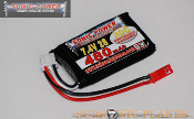 Sonic Power 480mah 7.4V 30C Lithium Polymer Battery Pack