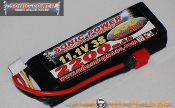 Sonic Power 2200mah 11.1V 25C Lithium Polymer Battery Pack