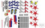 YardBird RC Decal Sheet for the Mig 29