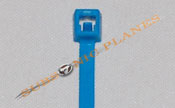 "Zip Tie/Cable Tie 4"" Fluorescent Blue"