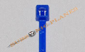 "Zip Tie/Cable Tie 4"" Blue"