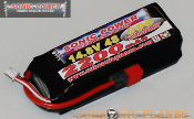 Sonic Power 2200mah 14.8V 30C Lithium Polymer Battery Pack