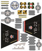 YardBird RC YB-22 Decal sheet