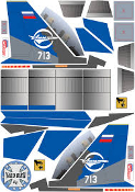 YardBird RC Mini SU-30 Decal Sheet
