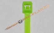 "Zip Tie/Cable Tie 4"" Fluorescent Green"